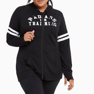 Torrid Badass in Training Full Zip hoodie sweater